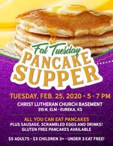 Fat Tuesday Pancake Supper @ Christ Lutheran Church